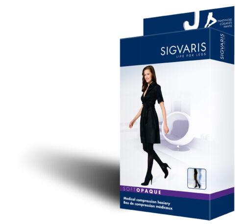 Sigvaris 840 Soft Opaque 30-40 Compression OPEN Toe Pantyhose 843P