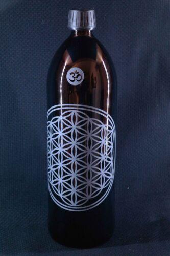 1 l botella Miron violeta cristal flor de la vida v3 yoga lavavajillas