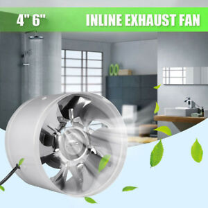 4Inch-6Inch-Inline-Duct-Fan-Booster-Exhaust-Blower-Air-Cooling-Vent-Metal-Blades