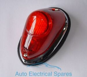 Lucas-type-L549-rear-lamp-light-unit-RED-COMPLETE-x-1-for-MGA-TRIUMPH-TR3