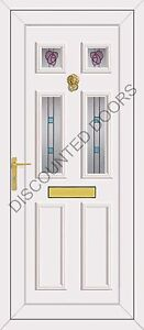 Wilson Four Rennie Glazed UPVC Front Door, Frame & Letterbox