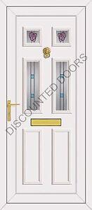 Wilson Four Rennie Glazed UPVC Front Door, Frame & Letterbox