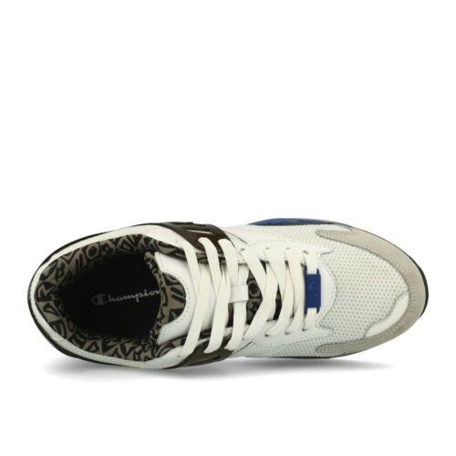 Champion Pro Premium White Nubuk Royal Blue chaussures sneaker blanc bleu