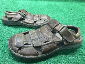 5dfcbc97cbaf Born M6504 Men s Sandals Leather Brown ~ Size 8   41 Fisherman EUC ...