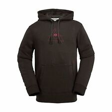 2017 NWT MENS VOLCOM FADED FLEECE HOODIE $70 L vintage black pullover cotton