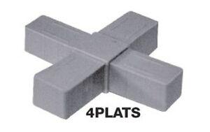 embout d 39 assemblage pour tube carre aluminium 4 plats 20 x 20 x 1 5 mm ebay. Black Bedroom Furniture Sets. Home Design Ideas