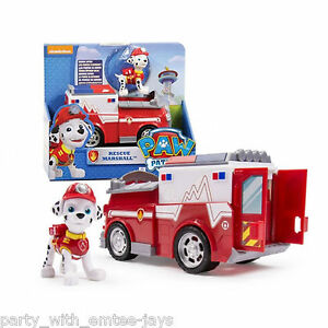 paw patrol marshall fire fighting truck toy aussie authentic paw