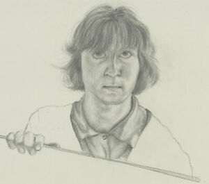 20th Century Graphite Drawing - Portrait of a Man