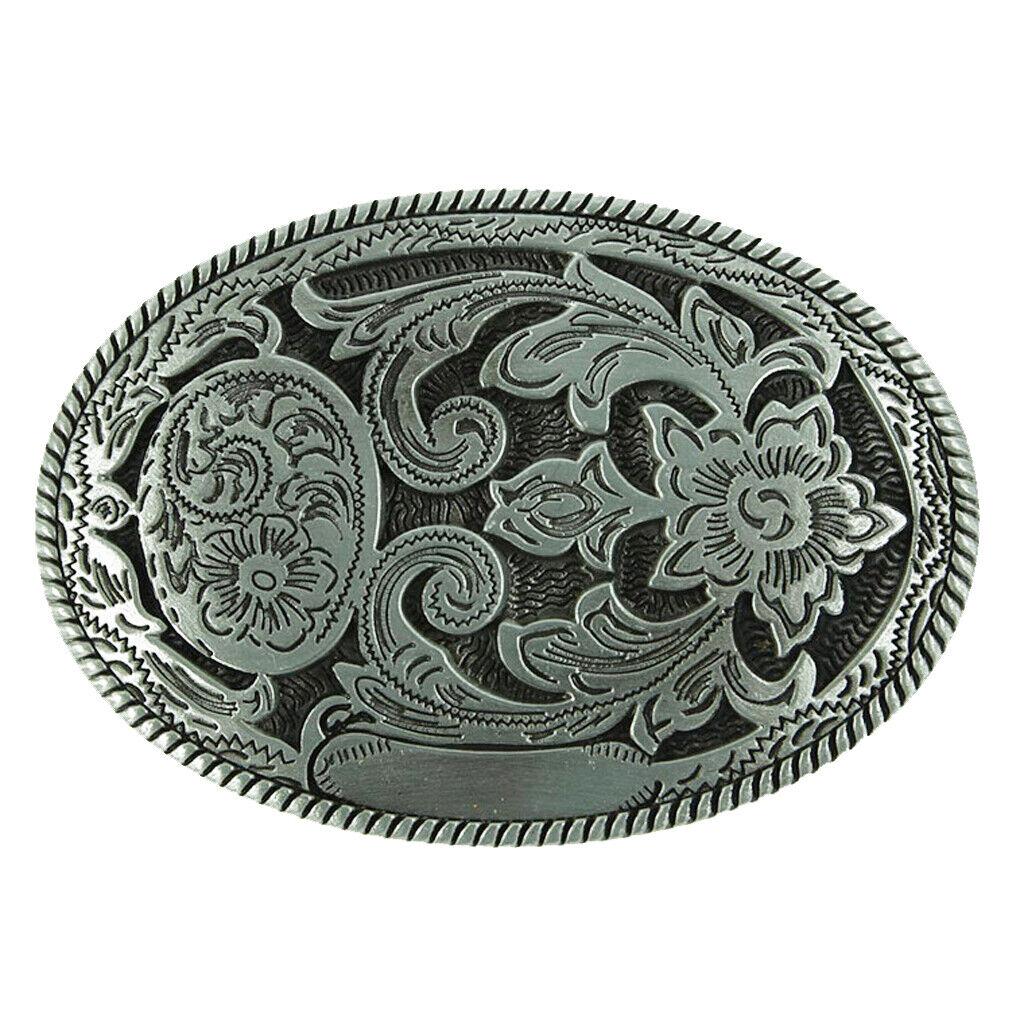 Vintage tongue flower pattern hippie western cowboy belt buckle men's gift
