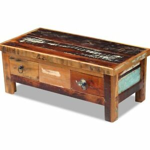 Image Is Loading Vintage Retro Coffee Table Solid Wood Living Room