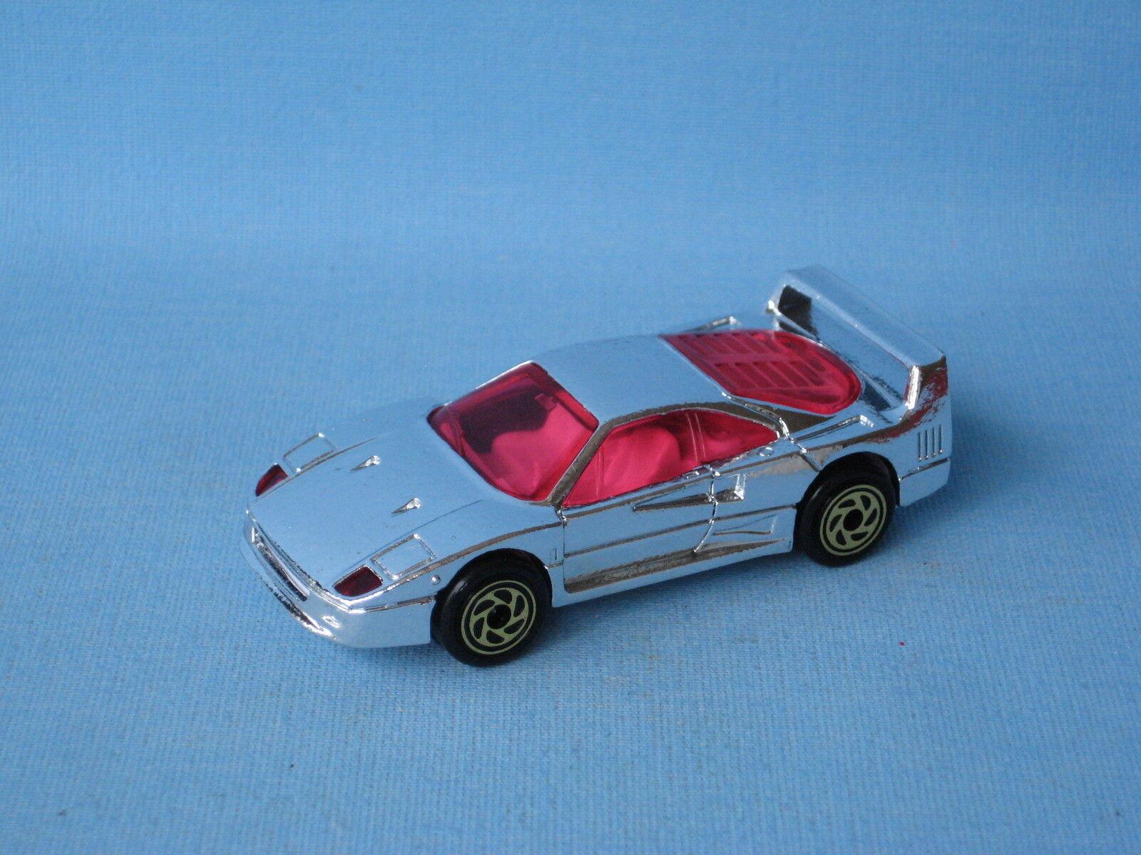 Matchbox Ferrari F40 Unreleased Chrome Version Pre-Pro 75mm