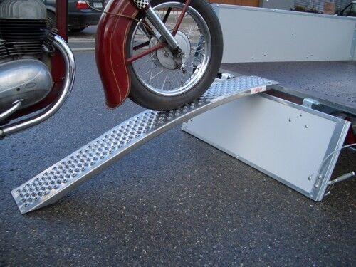 Motorrad Auffahrschiene Alu Schiene gebogen Rampe 2 m