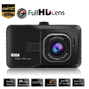 Dual Lens Camera HD Car DVR Dash Cam Video Recorder G-Sensor w/ Night Vision hr2