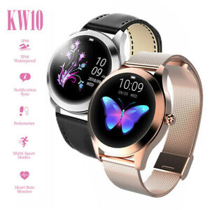 KW10-Mujer-Hombre-Moda-Bluetooth-Reloj-inteligente-Impermeable-para-iOS-Android