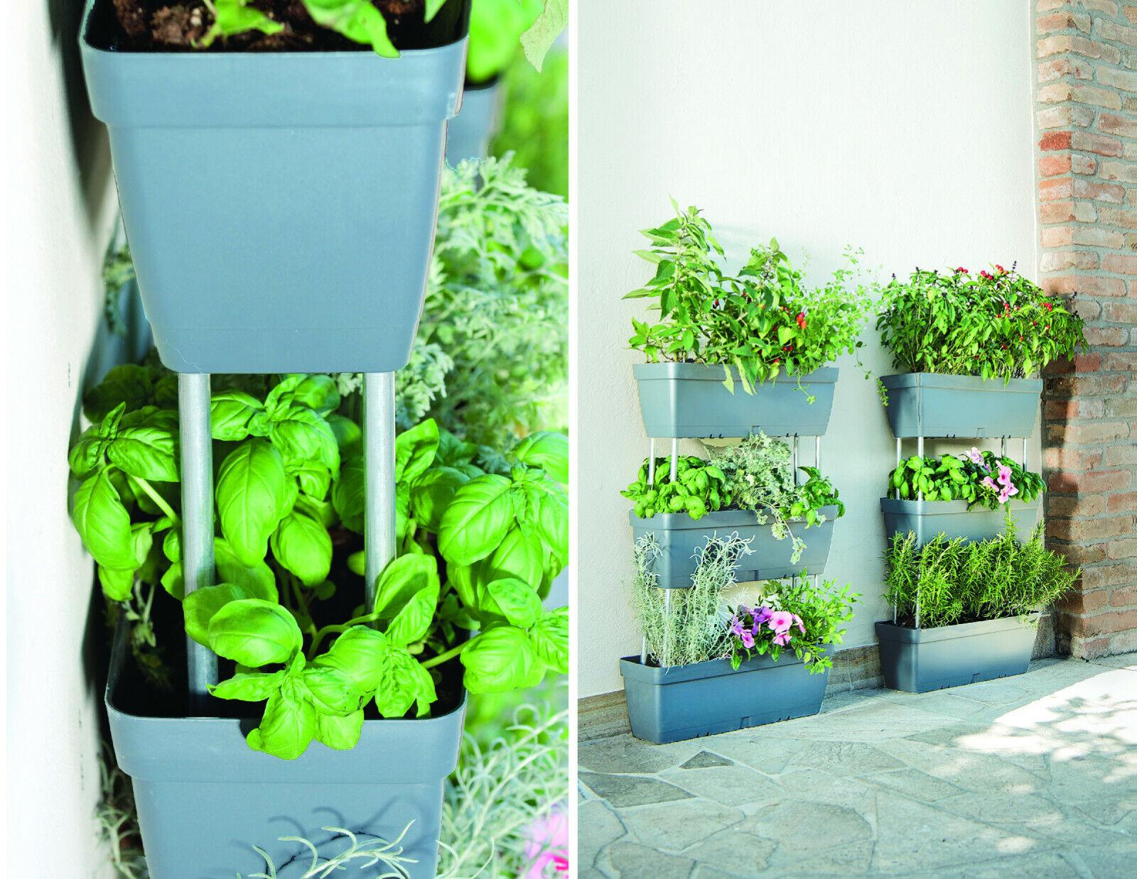 Set 3 vasi fioriera verticale