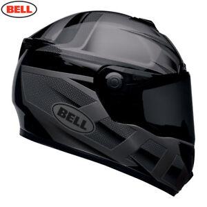 Bell-SRT-Blackout-Matt-Gloss-Black-FIBREGLASS-FULL-FACE-DARK-AND-CLEAR-VISORS