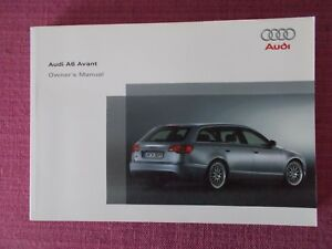 audi a6 avant estate 2005 2009 user manual handbook yjl1600 rh ebay co uk 2002 Audi A6 Manual PDF Audi A6 Manual Transmission Synchronizer