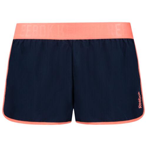 Reebok Work Out Woven Damen Fitness Sport Trainings Shorts B86348 Gr XS-L blau