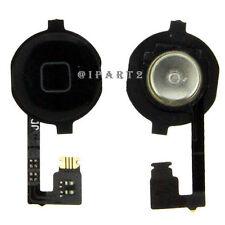 Home Menu Button Flex Cable + Key Cap assembly for Apple iPhone 4 4G (Black)