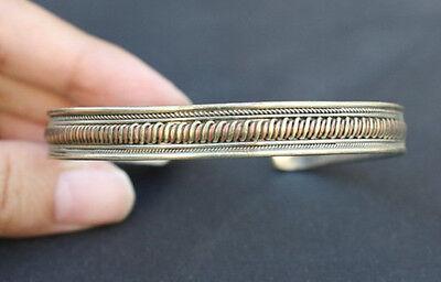 Tibetan 3-Color Copper Delicately Braided Multi Strands Weaving Cuff Bracelet