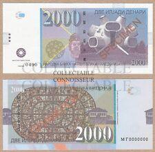 Macedonia 2000 Denari 2013 (2016) UNC SPECIMEN Private Issue Test Note Banknote