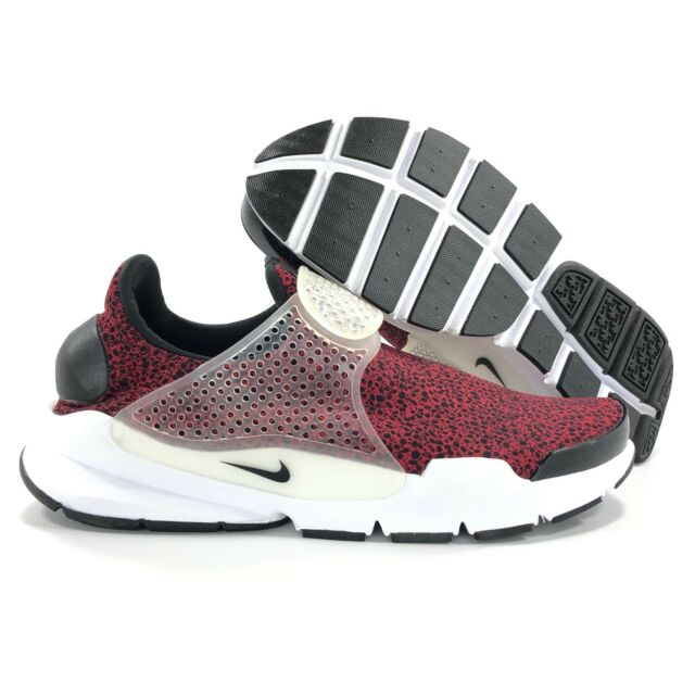 Nike Sock Dart QS Safari Mens 942198-600 Gym Red Black Running Shoes ... 733a7e85c