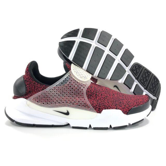 best service 789a0 06c94 Nike Sock Dart QS Safari Gym Red Black White Shoes 942198-600 Men's 12