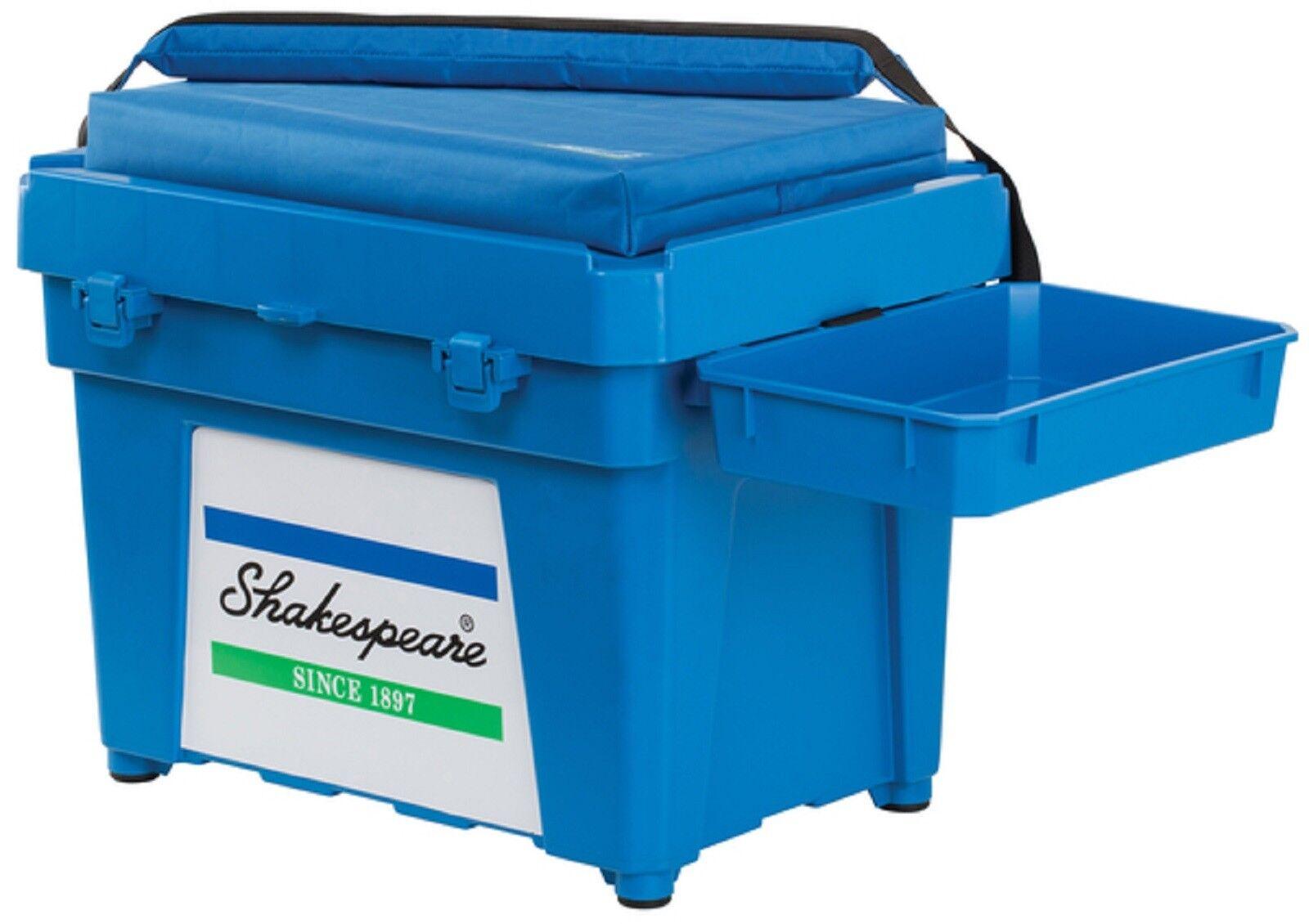 SQUADRA Blu di Shakespeare Pesca Scatola Sedile Cuscino imbottito Cinghia Cinghia Cinghia Laterale Vassoio e scatola 33f0ca