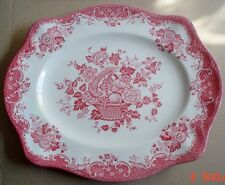 Johnson Brothers BIRD OF PARADISE Pink Red Sandwich Biscuit Cake Plate Platter