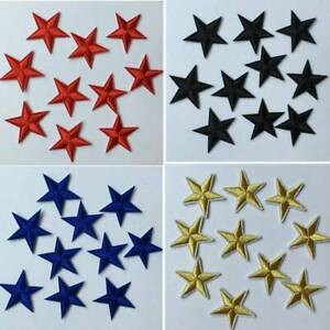 10Pcs-Star-Embroidery-Sew-Iron-On-Patch-Badge-Clothes-Applique-Bag-Fabric-DIY-UK