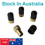 Presta Valve Brass Adapters to Schrader with Dust Caps for Bike Tyre Tires x 4