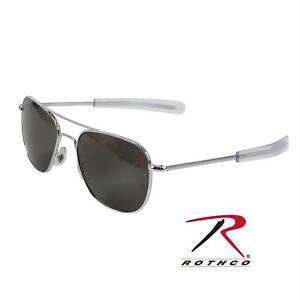 American Optical Original Pilot Bayonet 52mm Silver True Color Grey  Sunglasses 3aeb59c80ff6