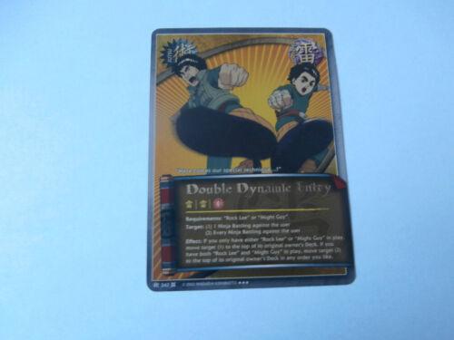 Carte Naruto Double Dynamic Entry Super rare !!!