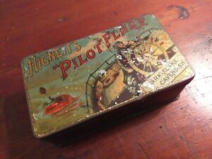 Rare-Collectable-c1900-039-s-Vintage-Hignett-039-s-Pilot-Flake-Tobacco-Tin