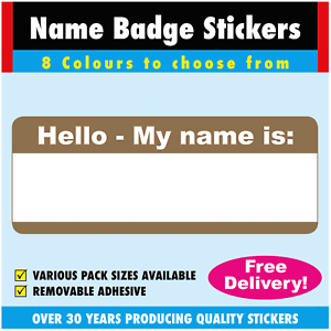 gold name badge labels stickers for schools clubs churches etc