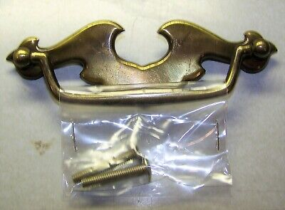 Belwith Brass Mini Chippendale Batwing Drawer Pull Single Screw Mount Gold