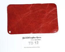 "Paprika Red Scrap Leather Craft Piece 8"" x 5"" TD12"