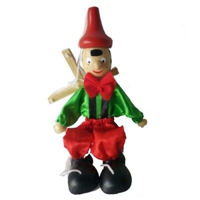 Gioco Raganella Giocattolo Pinocchio In Legno Tric Trac Bambini moc