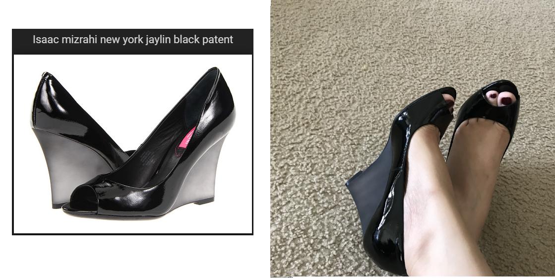 sconti e altro NIB Isaac Mizrahi Mizrahi Mizrahi New York Jaylin wedge heel nero patent leather 7.5 8  vendita online risparmia il 70%