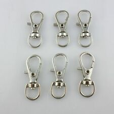 10pcs Plated Silver Lobster Swivel Hooks Clasps KeyChain Key Ring 11*32mm