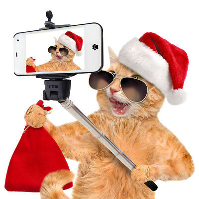 "Christmas Cards & Packs - Funny Cool ""Santa Cat Selfie"" - Fast FREEPOST"