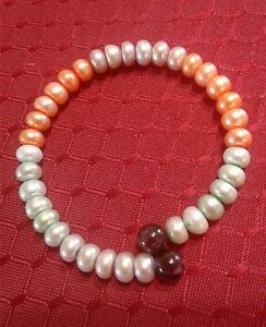 FRESHWATER-MULTI-COLOR-8MM-PEARLS-COIL-BRACELET-FITS-5-034-TO-8-034
