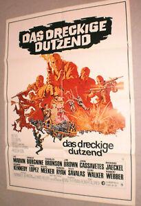 A1.Filmplakat ,DAS DRECKIGE DUTZEND,LEE MARVIN,ERNEST BORGNINE,CHARLES BRONSON