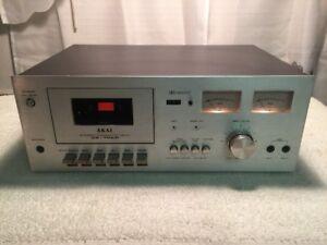 Excellent Akai CS-702D Vintage Stereo Cassette Deck