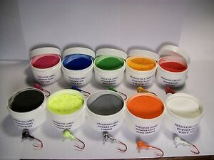 JIG-HEAD-FISHING-LURE-1-oz-POWDER-PAINT-IN-1-OZ-WIDE-MOUTH-JARS