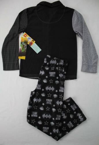 NEW Boys Flannel Pajamas Set Medium 8 Lego Batman Robin Sleep PJs DC Superhero
