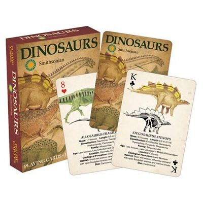 Smithsonian Dinosaurs Playing Cards Deck Brand New Sealed