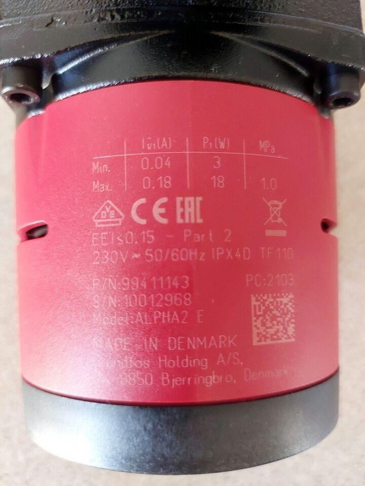 Cirkulationspumpe gulvvarme ALPHA2 25-40-130, Grundfos