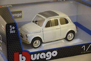 burago 12020wh fiat 500f 1965 blanche 1 18 bburago ebay. Black Bedroom Furniture Sets. Home Design Ideas
