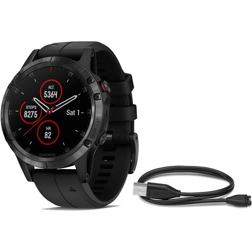 Garmin frequenza cardiacaMisuratore con GPS FENIX 5 Plus Zaffiro